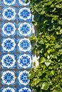 Traditional portuguese azulejos tiles in porto Stock Photos