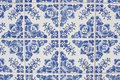 Traditional portuguese azulejos tiles in porto Stock Images