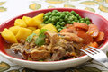 Traditional portuguese chicken stew mediterranean diet Royalty Free Stock Images