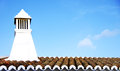 Traditional Portuguese chimney. Stock Images