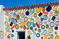Traditional portuguese pottery plates on a wall Royalty Free Stock Photo