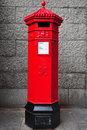 Traditional post box Stock Image
