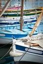Traditional provencal sailing boats called pointus bandol france Royalty Free Stock Images