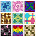 Traditional quilting patterns Royalty Free Stock Photography