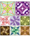 Traditional quilting patterns Royalty Free Stock Images