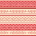 Traditional rad-and-white geometrical seamless pattern in the Bulgarian style