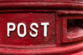 Traditional red british Royal Mail Post Box Royalty Free Stock Photo