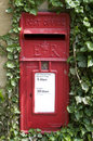 Traditional red letter box i Royalty Free Stock Photo