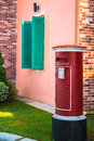 Traditional red mail-box Royalty Free Stock Photo