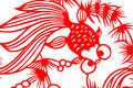 Traditional red paper cut fish Royalty Free Stock Images