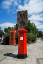 Traditional, red Penfold style postbox/pillarbox Royalty Free Stock Photo