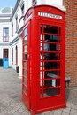 Traditional red telephone box in London Royalty Free Stock Photos