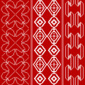 Traditional red and white pattern Stock Photos