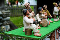 Traditional romanian dolls muromets as exposed to traditional romanian products in romanian village museum nicolae gusti on Royalty Free Stock Photo