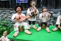 Traditional Romanian Dolls Muromets as exposed to Traditional Romanian Products in Romanian Village Museum Nicolae Gusti