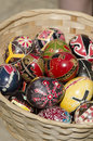 Traditional romanian easter eggs on display in the village museum bucharest romania Stock Image
