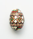 Traditional romanian orthodox hand painted easter egg Royalty Free Stock Photos