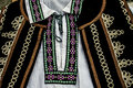 Traditional romanian port of men clothes detail Stock Image