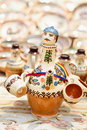 Traditional Romanian pottery at Horezu, Romania Royalty Free Stock Photos