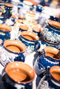 Traditional romanian pottery image showing at the annual market in sibiu romania Stock Photography