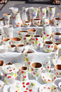 Traditional romanian pottery image showing at the annual market in sibiu romania Royalty Free Stock Images