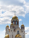 Traditional russian orthodox church with  domes Royalty Free Stock Photo