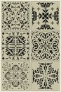 Traditional russian pattern black vignette design elements and page decoration Royalty Free Stock Image