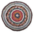 Traditional russian round knit mat handmade isolated on a white background carpet Royalty Free Stock Image