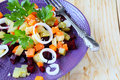 Traditional russian salad on plate beetroot Stock Image