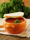 Traditional Russian Ukrainian  soup borscht Stock Photos