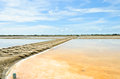 Traditional salt evaporation pond Stock Image