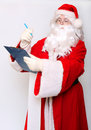Traditional Santa Claus writing Royalty Free Stock Photo