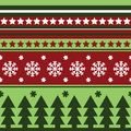 Traditional seamless winter pattern Stock Photography