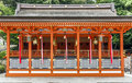 Traditional shinto architecture orange japan Royalty Free Stock Photography