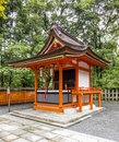 Traditional shinto architecture orange at a shrine japan Stock Photos