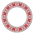 Traditional slavic round embroidery vector illustration of embroidered pattern Royalty Free Stock Images