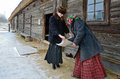 Traditional slavonic divination minsk belarus january during the old holiday kalyada in strochitsy in belarusian state museum of Stock Images