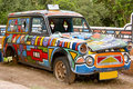 Traditional south african painting on old car Stock Image