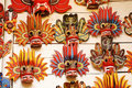 Traditional souvenir masks of the devil Royalty Free Stock Photo