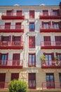 Traditional spain building facade