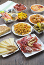 Traditional spanish tapas Stock Photo