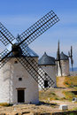 Traditional spanish windmills Royalty Free Stock Photos