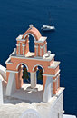 Traditional steeple at Santorini, Greece Royalty Free Stock Photo