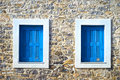 Traditional stone house detail of a in a greek island Stock Photography