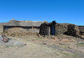 Traditional style of housing in lesotho at sani pass at altitude of m september on september the kingdom Royalty Free Stock Photography