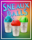 Traditional Summer time Spring Snow Balls New Orleans Louisiana Royalty Free Stock Photo