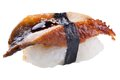 Traditional sushi sashimi on white background Royalty Free Stock Photo