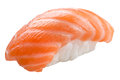 Traditional sushi sashimi on white background Royalty Free Stock Photo