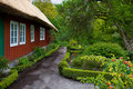 Traditional swedish house in Skansen. Stock Photography