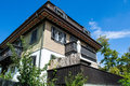 Traditional swiss house alps meirengen switzerland Stock Image
